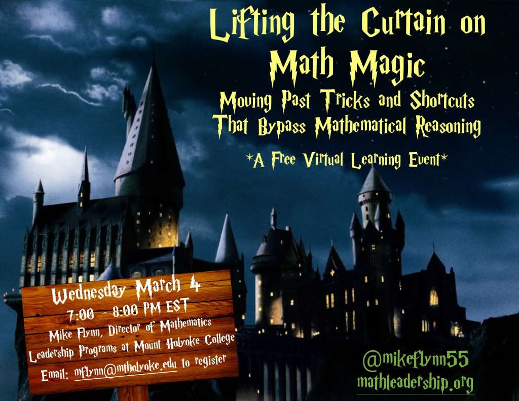 Lifting The Curtain on Math Magic Flier.pages